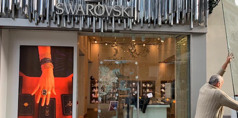 Swarovski glasbreuk Facilicom Hard Services